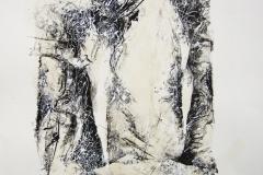 Linien | Linien über Figur 45x60cm 2002/1980