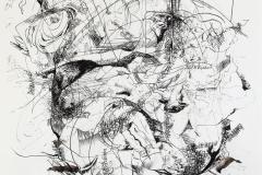 Feder | Palimpsest 2,  48x64cm 2019/1989