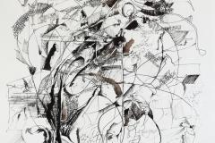 Feder | Palimpsest,  48x64cm 2019/1985