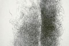 Linien   Knäule, 48x64cm 2001