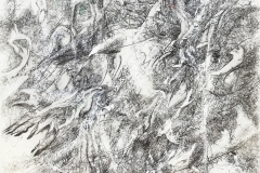 Linien   Palimpsest,  48x64cm 2019/1999